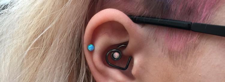 Opal ear hearts