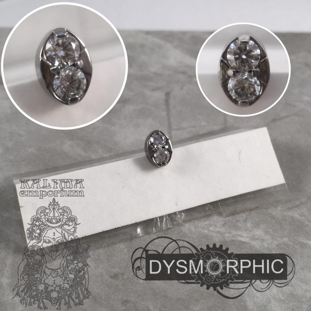 double gem screw on attachment made in titanium